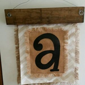 Rustic Initial A wall hanging